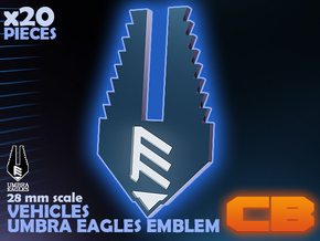 CB Umbra Eagles Emblem S* 28mm in Smoothest Fine Detail Plastic
