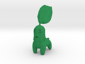 Low Poly Chikorita in Green Processed Versatile Plastic