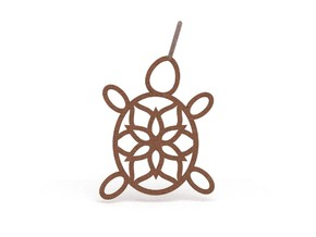 Turtle Mandala Pendant in Natural Bronze
