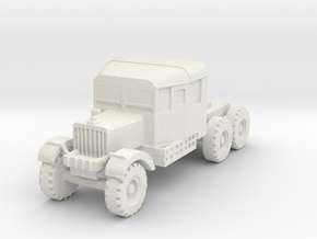 Scammell tractor scale 1/100 in White Natural Versatile Plastic