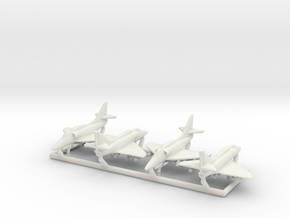 A-4F w/Gear x4 in White Natural Versatile Plastic: 1:350