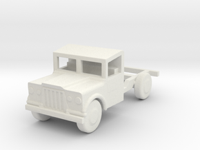 1/200 Scale M724 Jeep 1 25 Ton Truck Chasis in White Natural Versatile Plastic