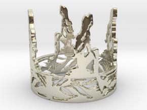 Mermaids Dream Ring  in 14k White Gold: 6 / 51.5