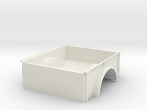 WWII 3/4 ton truck bed 1/10 like Dodge M37 in White Natural Versatile Plastic