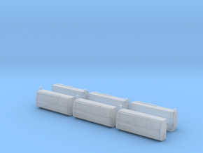 1/87 Scale Transit Reefer Units x6 in Smooth Fine Detail Plastic