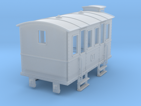HOe-wagon02 - Crate of passenger wagon in Smooth Fine Detail Plastic