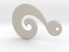 Maori Pendant - medium (3mm thick) in Natural Sandstone