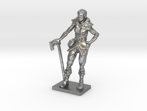 Female Warrior in Natural Silver