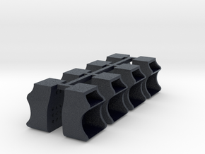 8x Caboose Steps - O scale in Black Professional Plastic