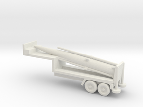 1/200 Scale Pershing Missile Tailer in White Natural Versatile Plastic