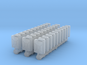 German Jerry can (30 pieces) 1/100 scale in Smooth Fine Detail Plastic