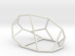 """Irregular"" polyhedron no. 1 in White Natural Versatile Plastic: Large"