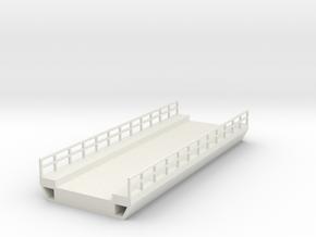 N Bridge Deck 120mm W45 in White Natural Versatile Plastic