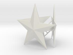 Medium Tree Star in White Natural Versatile Plastic