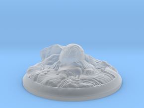 Fire Dragon Egg - 40 mm Base for Tabletop Games in Smooth Fine Detail Plastic