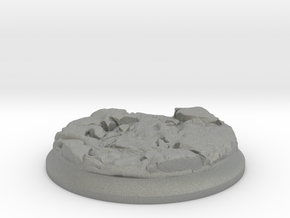 Lava Stream - 40 mm Base for Tabletop Games in Gray Professional Plastic