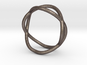 Ring 10 in Polished Bronzed-Silver Steel