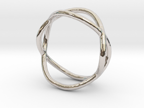Ring 10 in Rhodium Plated Brass