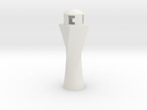 Lighthouse Ornament in White Natural Versatile Plastic