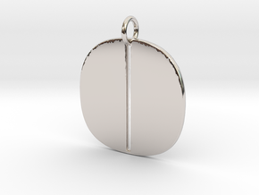 Numerical Digit Zero Pendant in Platinum