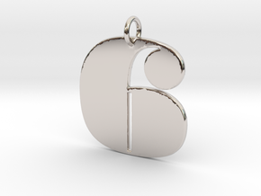 Numerical Digit six Pendant in Platinum