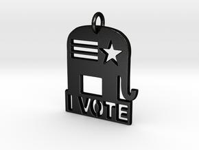 I Vote Elephant in Matte Black Steel