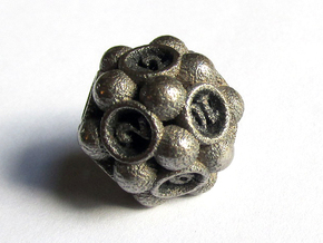Spore Die12 in Polished Bronzed Silver Steel