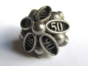 Spore Decader d10 in Polished Bronzed Silver Steel