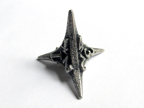 Caltrop d4 in Polished Bronzed Silver Steel
