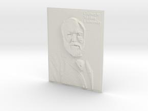Andrew Carnegie CMU Flat Lithophane in White Natural Versatile Plastic: Medium