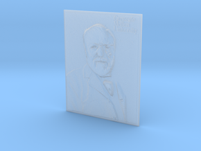 Andrew Carnegie CMU Flat Lithophane in Smooth Fine Detail Plastic: Medium