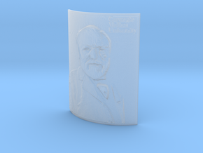 Andrew Carnegie CMU Curved Lithophane in Smooth Fine Detail Plastic: Medium