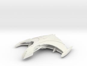 Romulan Ar'kala II  Tactical Warbird in White Natural Versatile Plastic