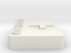 1/10 scale First Aid kit in White Natural Versatile Plastic