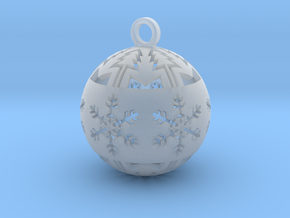 Large Christmas tree ball in Smooth Fine Detail Plastic