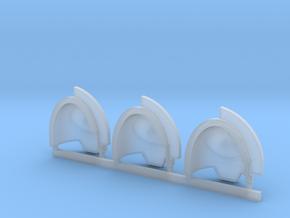 Shark Aggressor shoulder pads x3 L in Smooth Fine Detail Plastic