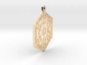 Snowflake Christmas Ornament in 14K Yellow Gold