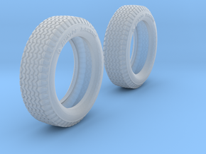Rally Tires in Smoothest Fine Detail Plastic