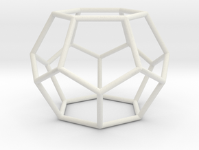 Fullerene with 14 faces in White Natural Versatile Plastic