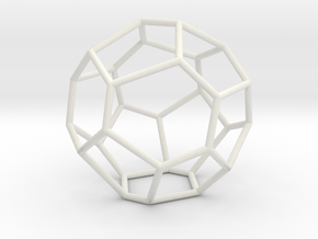 Fullerene with 17 faces, no. 2 in White Natural Versatile Plastic