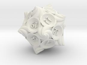 Conch d20 in White Natural Versatile Plastic