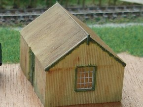 Corrugated Iron Shed 2mm/ft 1/152 (N scale) in Smooth Fine Detail Plastic