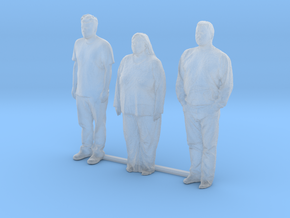 S Scale people standing 8 in Smooth Fine Detail Plastic