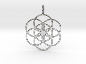 Seed of Life 33mm in Natural Silver