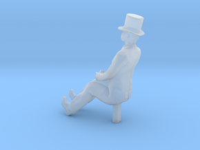 S Scale Sitting Man in Smooth Fine Detail Plastic