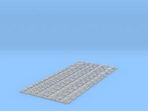 Schienenbefestigung 15m Gleis Doppelschwelle 1:45 in Smooth Fine Detail Plastic