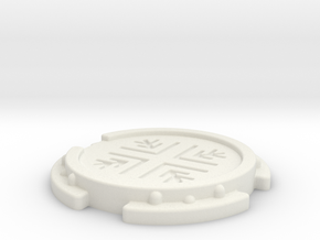 Sci-Fi Landing Pad (6mm Scale War Gaming) in White Natural Versatile Plastic