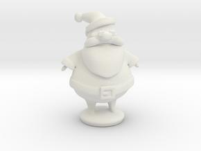 Santa in White Natural Versatile Plastic
