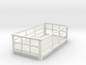 FRB02 - LNWR 2 Ton Iron Slate Wagon (Unbraked) SM3 in White Natural Versatile Plastic