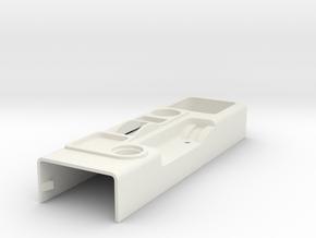 RCN185 Interior center console for HPI Toyota FJ in White Natural Versatile Plastic